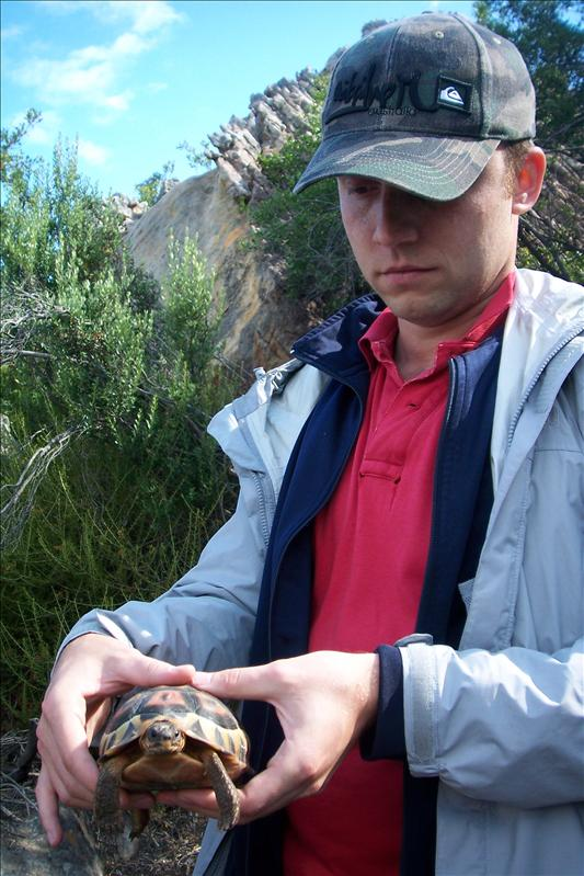 thymaya with a turtle