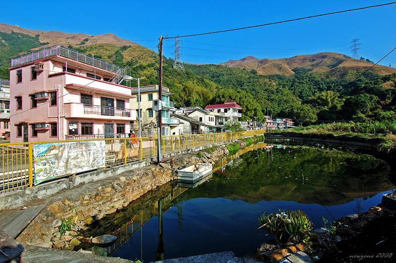 Fung Shui (Chinese Astrology) pool 村前風水池