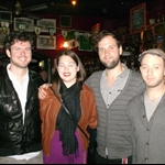 Meg w/the members of Wintersleep (1 of her fav bands)