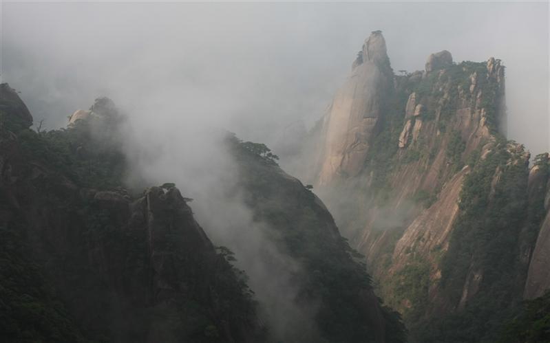 三清山,(Three Green Mountain), ShangLao, JiangXi, China