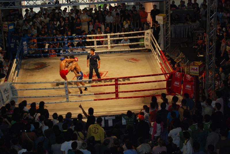 Thai boxing in the Siam Square