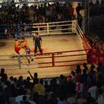 Thai boxing in the Siam Square