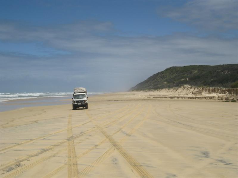 Driving the 4X4 on the beach