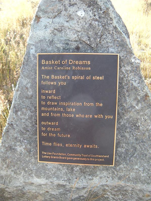 Beautiful poem at the top of Queenstown Hill