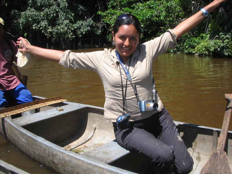 LAYDY PATRICIA, OUR GUIDE, TAMBOPATA RESERVE, AMAZON