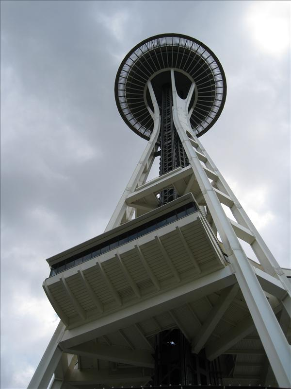View of the Space Needle from below