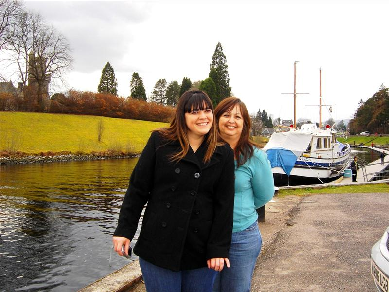my mom and I at Loch Ness
