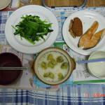 晚餐,簡單、也能滿足飢餓的2人。