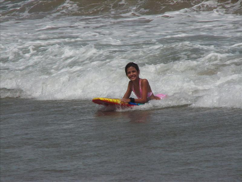 Vic and Boogie board