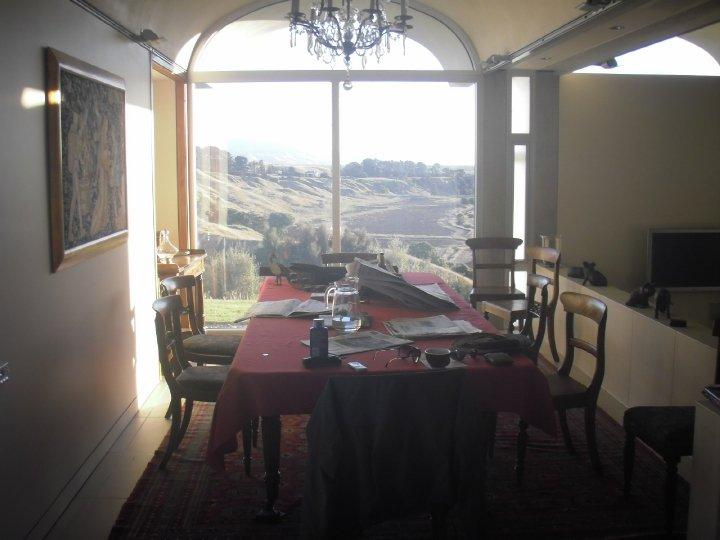 The dining area - amazing views onto Martinborough wineries