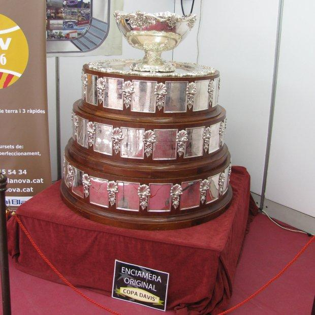 "This is why we are practising tennis, to win the ""Davis Cup"" on display in Vilanova."