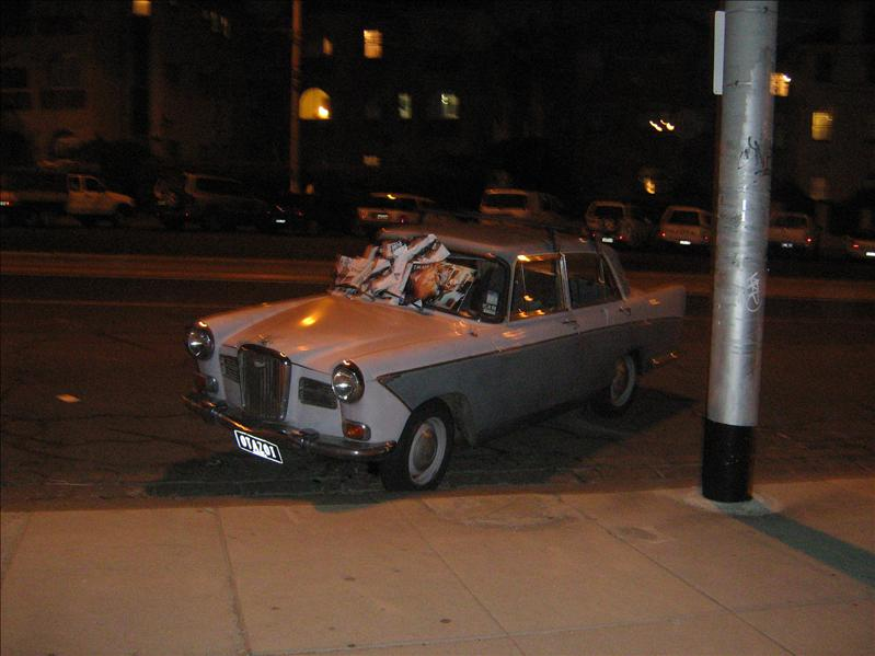 Car with Newspaper On!