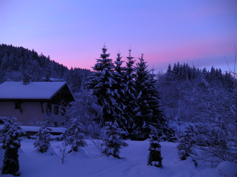 Sunrise at Chalet Coquelicot