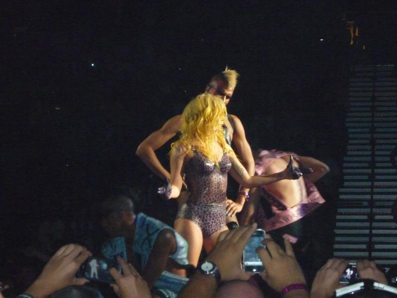 Gaga doing her thing...