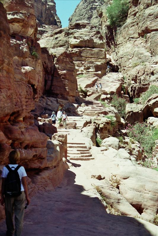 the way up to the monastery