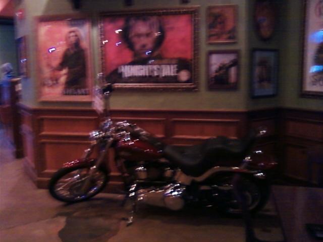 a Harley bike sits unridden