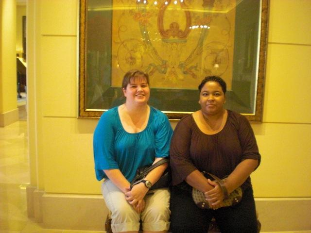 Us in Ritz lobby courtesy of the very affable concierge