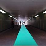 粉嶺火車站起步經新運路落行人隧道
