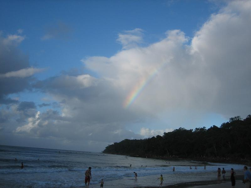 Rainbow at Noosa beach