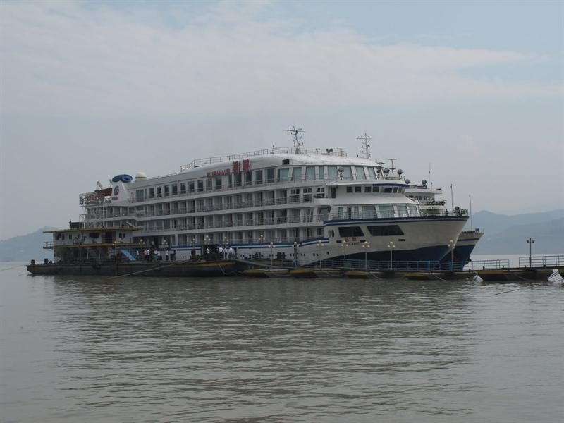 """Blue Whale"" cruise ship ----down stream from Chongqing (重慶市) to Yichang (宜 昌 )."