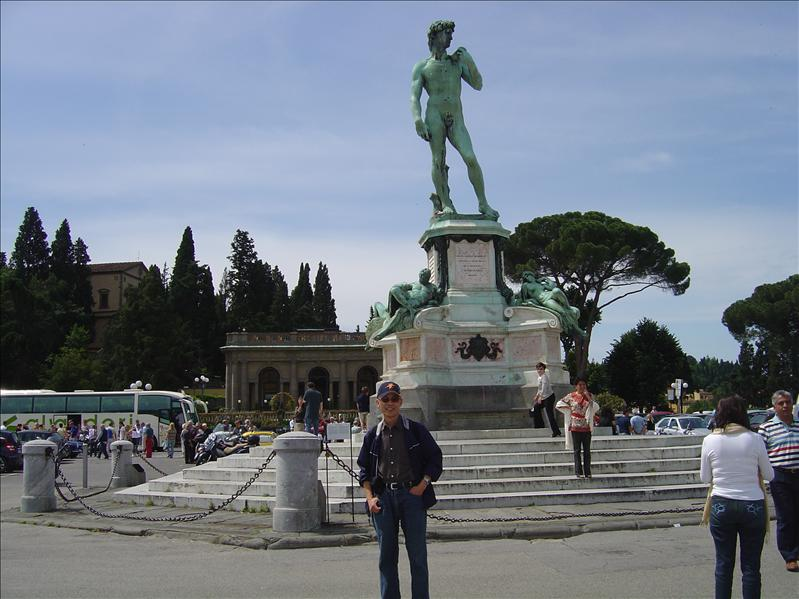 Michelangelo statue in Florence