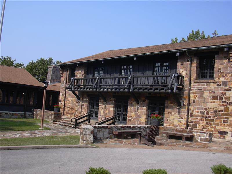 a view of the back of the lodge