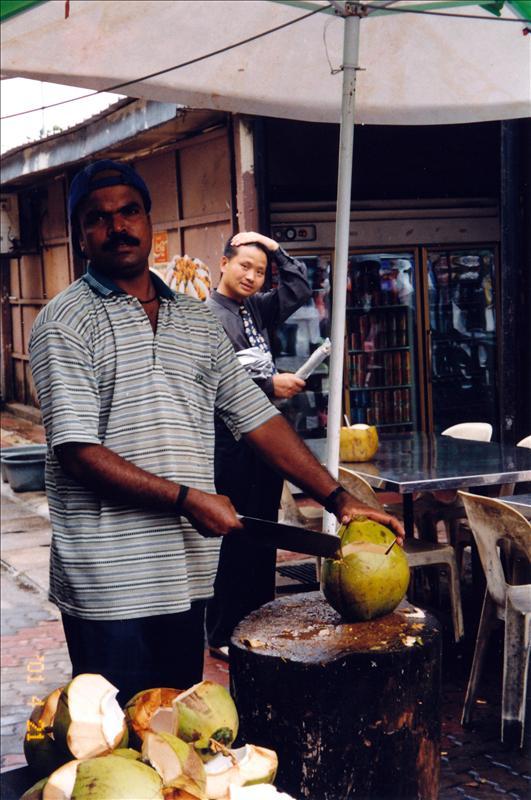 马来西亚、卖椰子的人