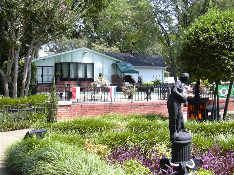 a rear view of Graceland
