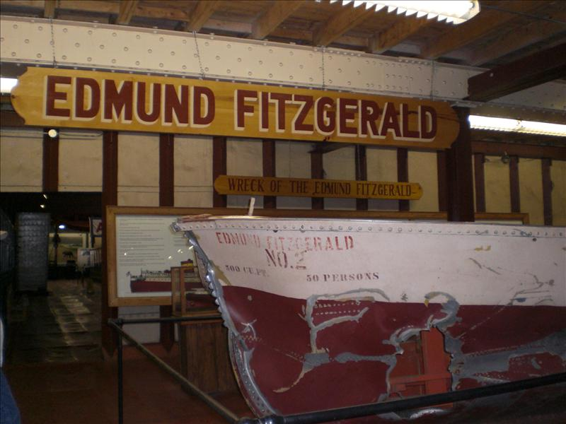 Wreckage of the Edmund Fitzgerald..