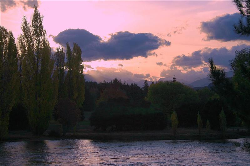 Sunset at Wanaka.