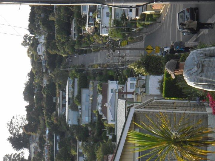 The worlds steepest street - woohoo!