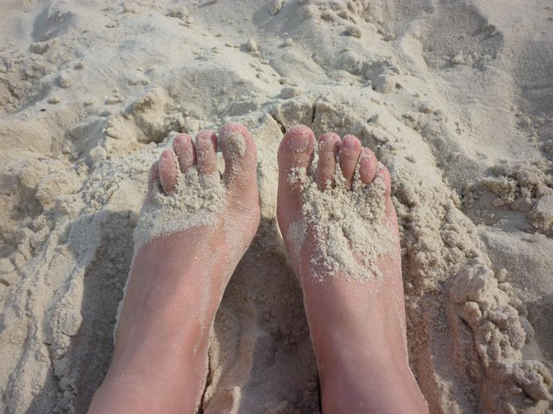 Having fun in the sand!!