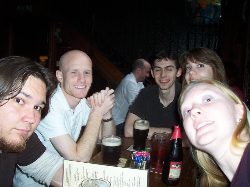 At a pub near Temple Bar.