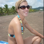 Our first beach moment of Costa RIca...