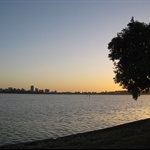 Sunset over Swan River