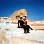 Sphinx, Great Pyramid-King hoops, Giza, Egypt