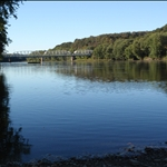 Downriver side of the Newport Bridge