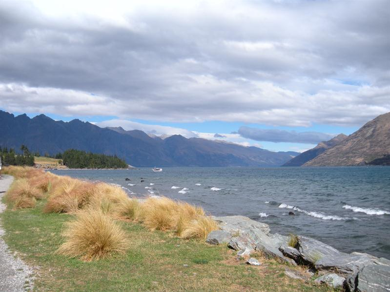 View along Lake Wakatipu to the Remarkables