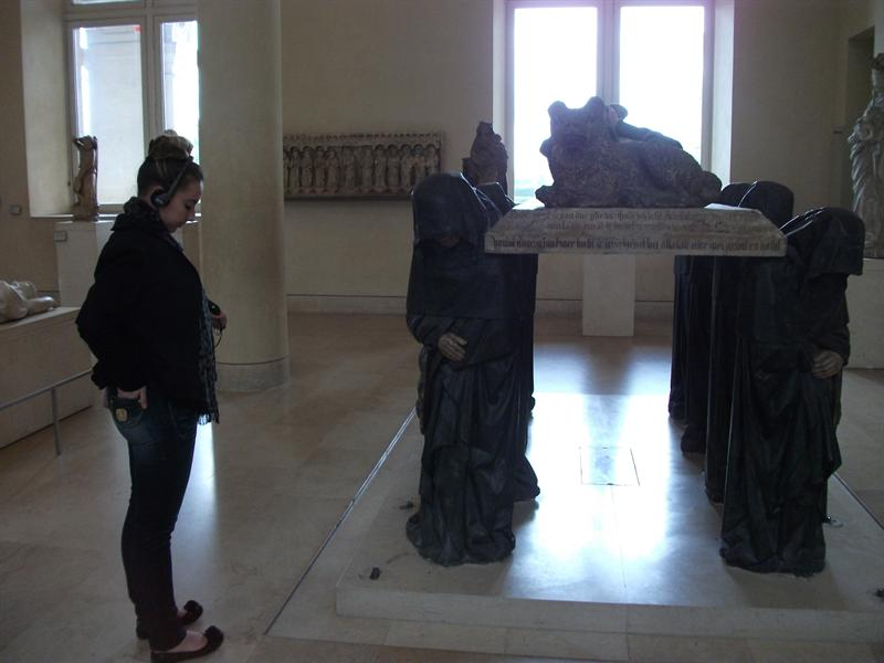 This was a tomb monument, very old....looks like I am trying to imitate the monks :)
