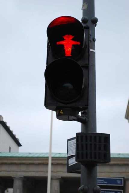 Berlin's red stop sign