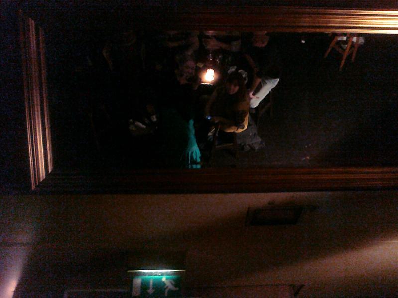 Mirror at the Porterhouse.