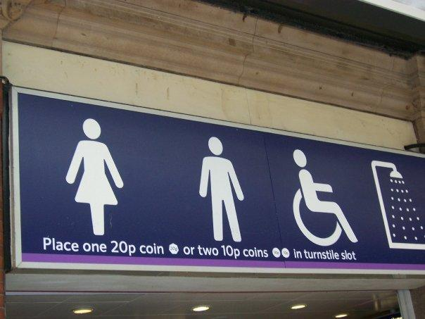 Can you believe that you have to still pay to use the toilets?  It cost 20 pence.