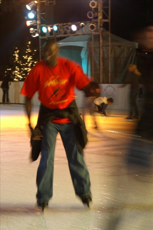 Wjhere else can you ice skate in a T-Shirt?