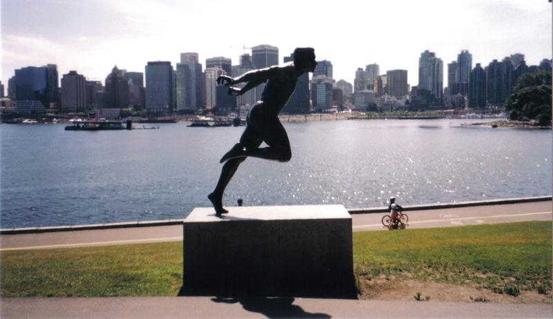 Monument in Vancouver city park