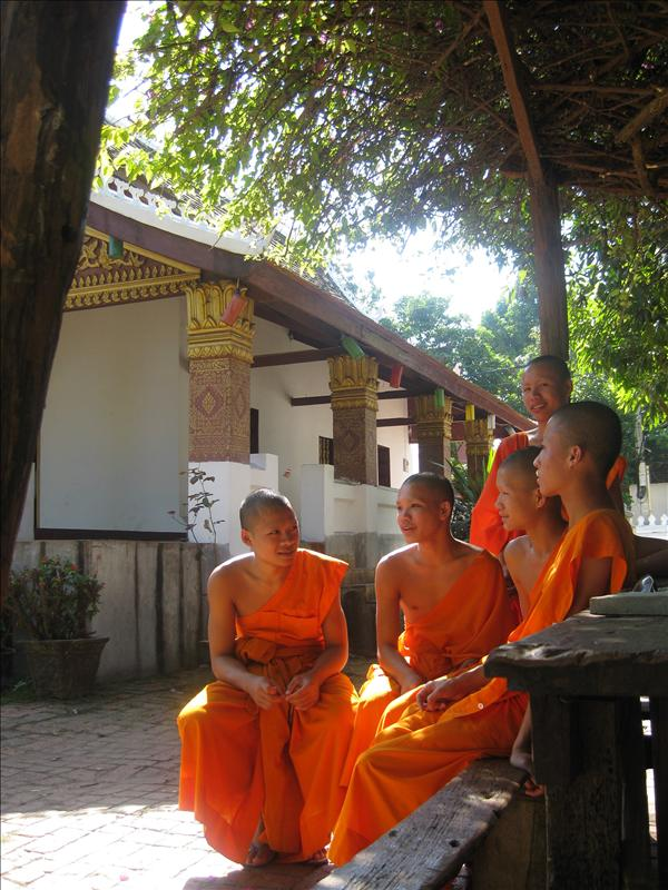 Luang Prabang is the spiritual centre of Laos with 1200 monks and novices, almost 10% of the total population. Many monks join the monasteries at an early age, doing their studies there.