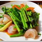 炒蘆筍鮮蝦