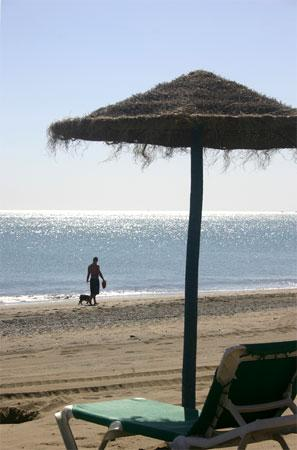 hot sand of malaga summer