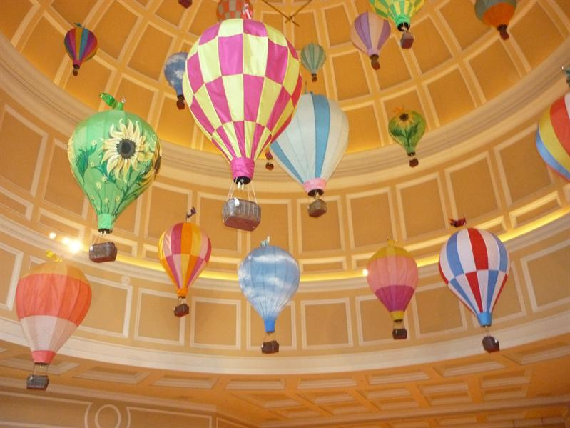 Balloons in the ceiling...