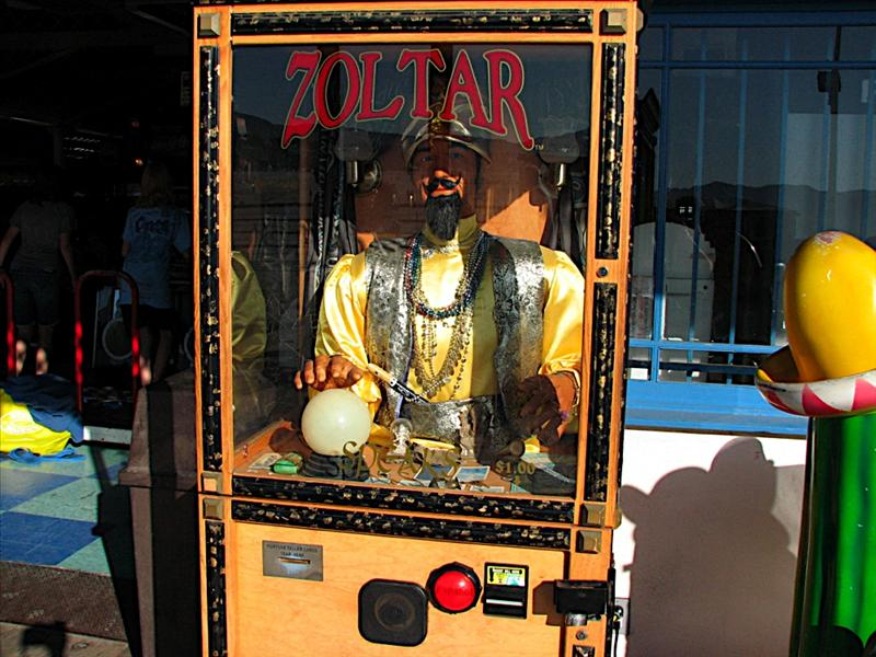 "Zoltar Fortune Teller from the movie ""Big"" with Tom Hanks on the Santa Monica Pier"