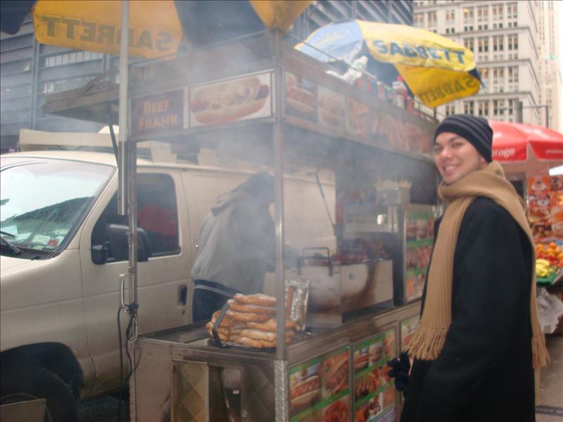 The best Italian Sausage cart on Fulton